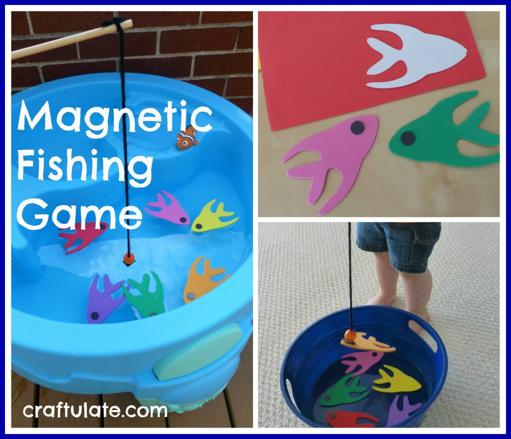 Magnetic Fishing Game to make for kids