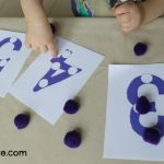 Pom Pom Number Boards with FREE printables