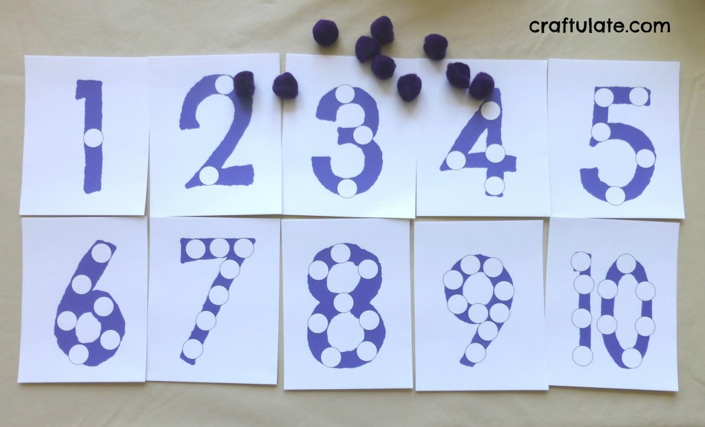 Pom Pom Number Boards