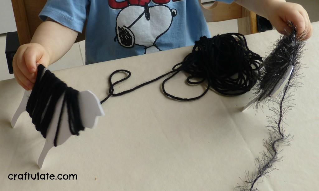 Yarn Wrap Sheep