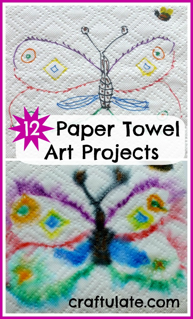 12 Paper Towel Art Projects for kids to try