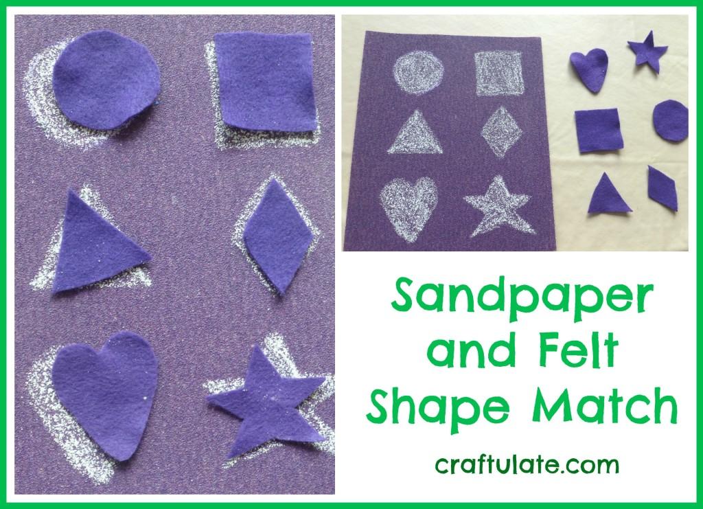 Sandpaper and Felt Shape Match Board
