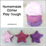 Homemade Glitter Play Dough