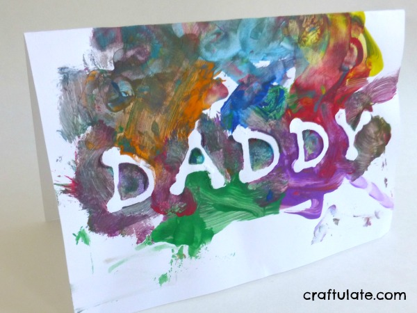 Sticker Resist Father's Day Card - easy card for toddlers to make!