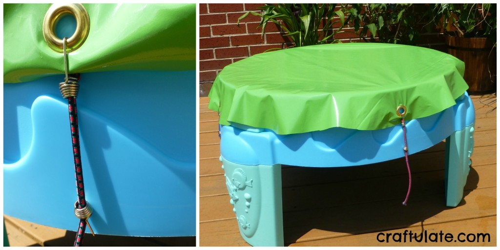 No-Sew Water Table Cover Tutorial