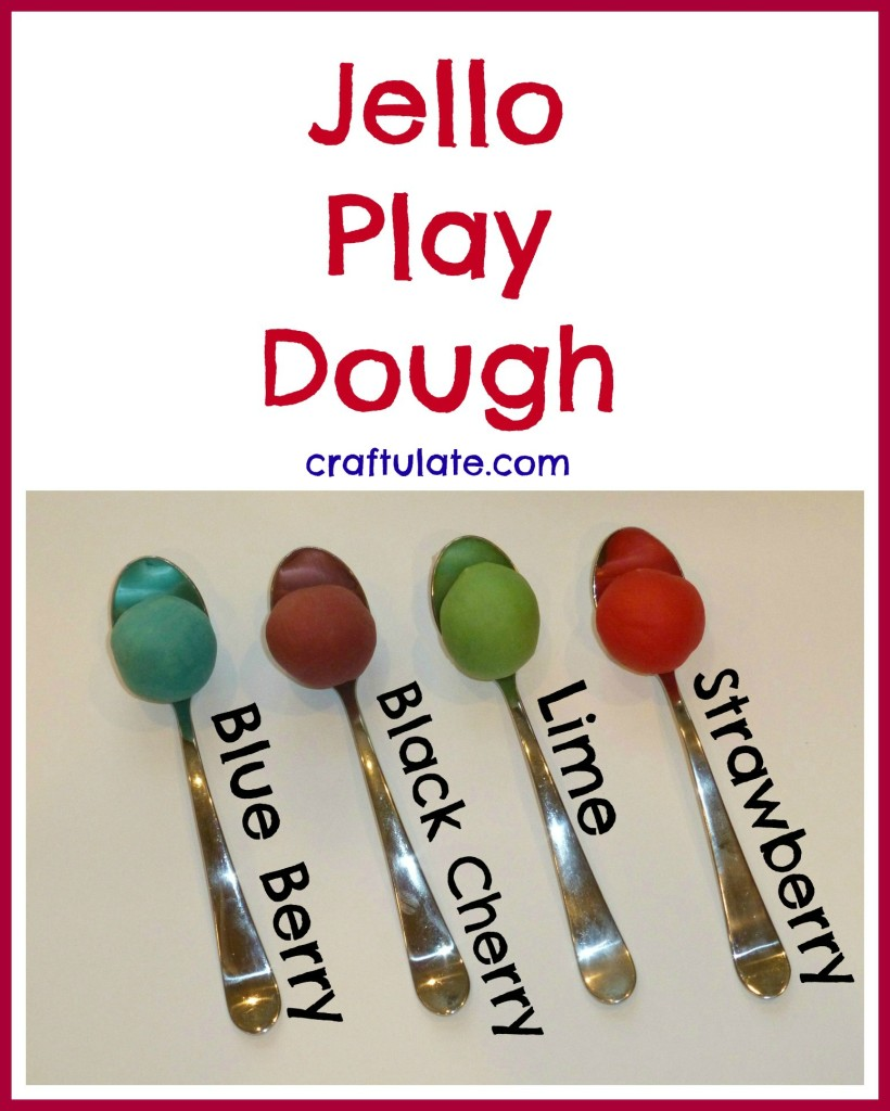 Jello Play Dough - homemade play recipe for kids