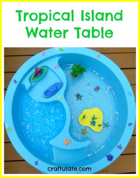 Tropical Island Water Table - with water beads for extra sensory fun!