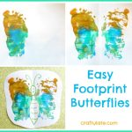 Easy Footprint Butterflies