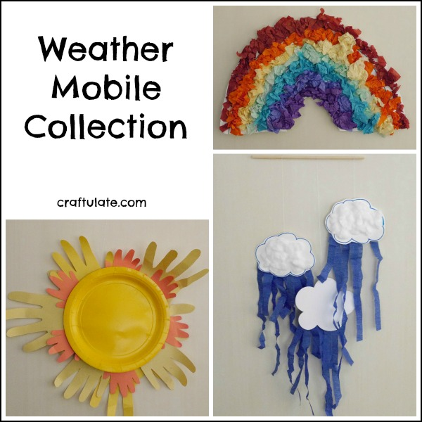 Weather Mobile Collection - fun crafts for kids!