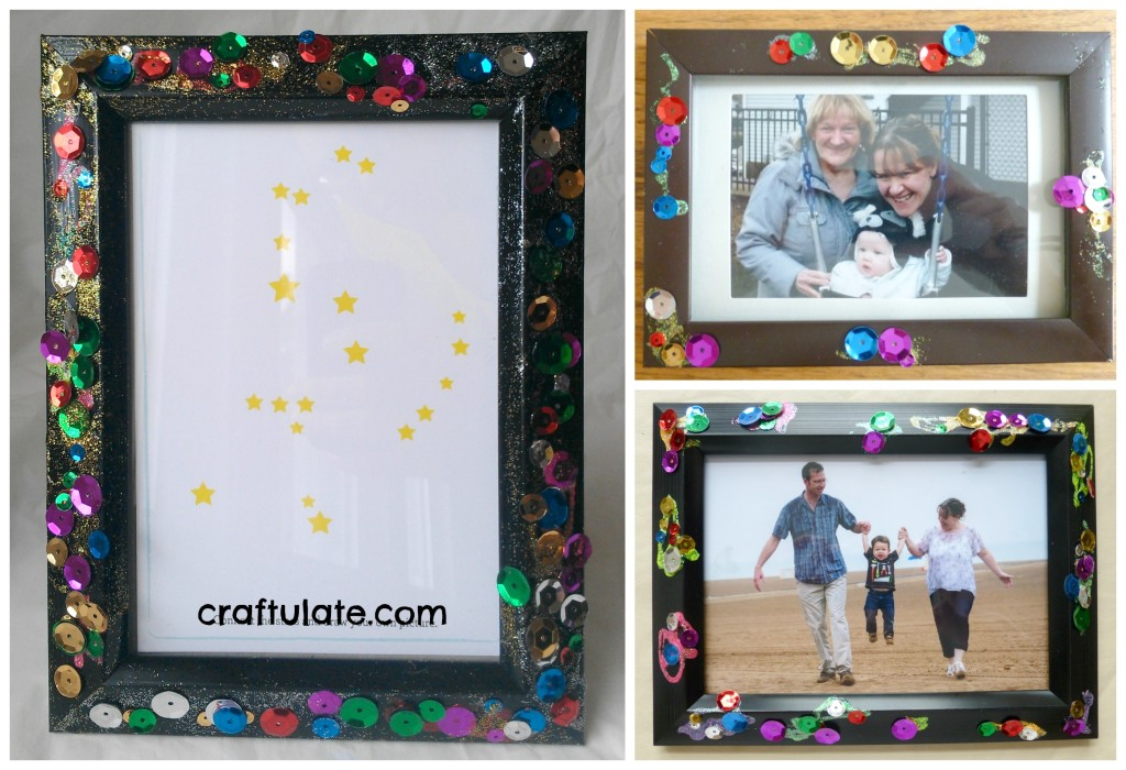 DIY Sparkly Photo Frames