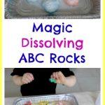 Magic Dissolving ABC Rocks