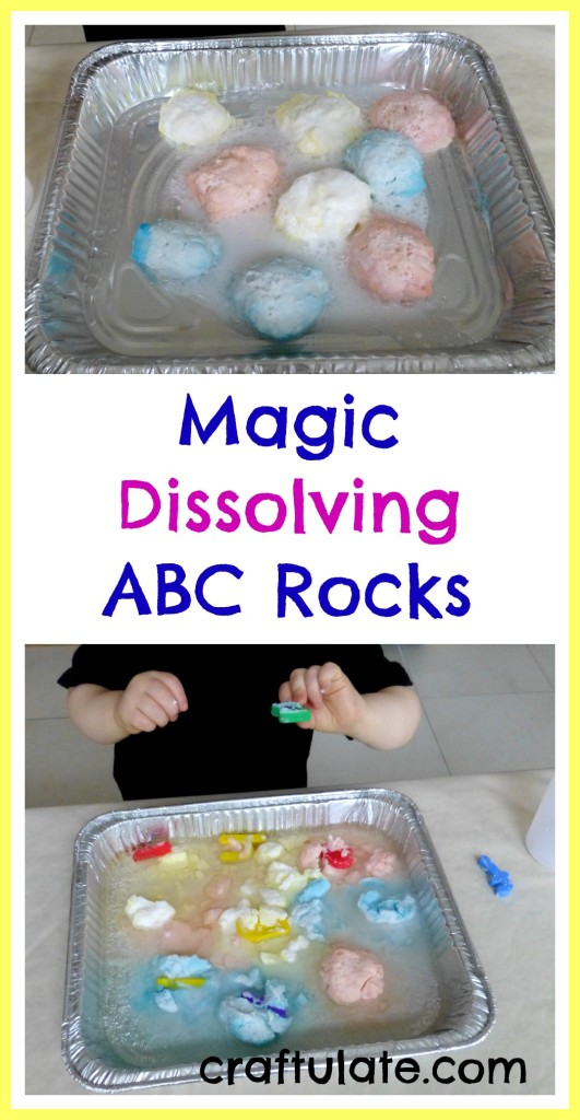 Magic Dissolving ABC Rocks