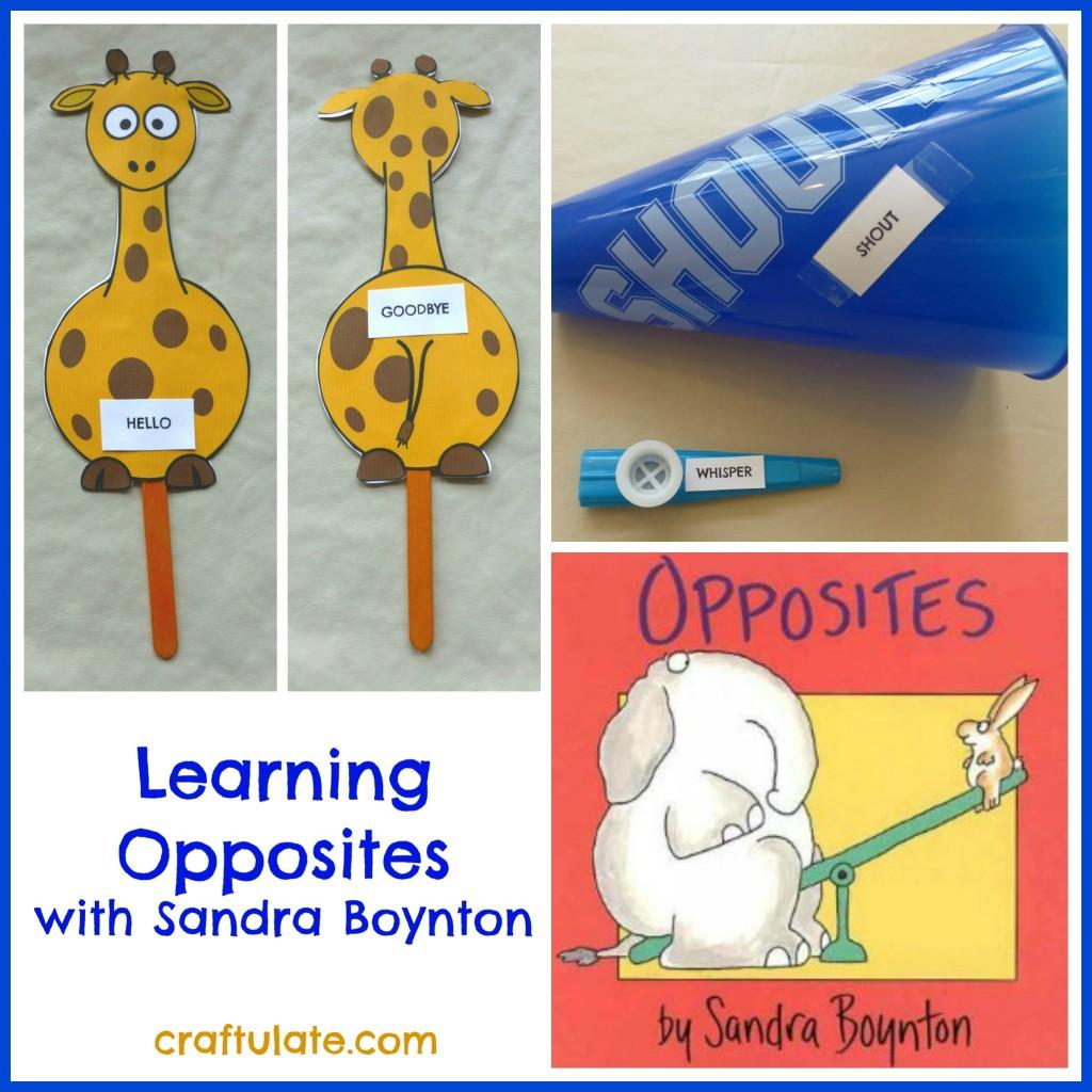 Learning Opposites with Sandra Boynton