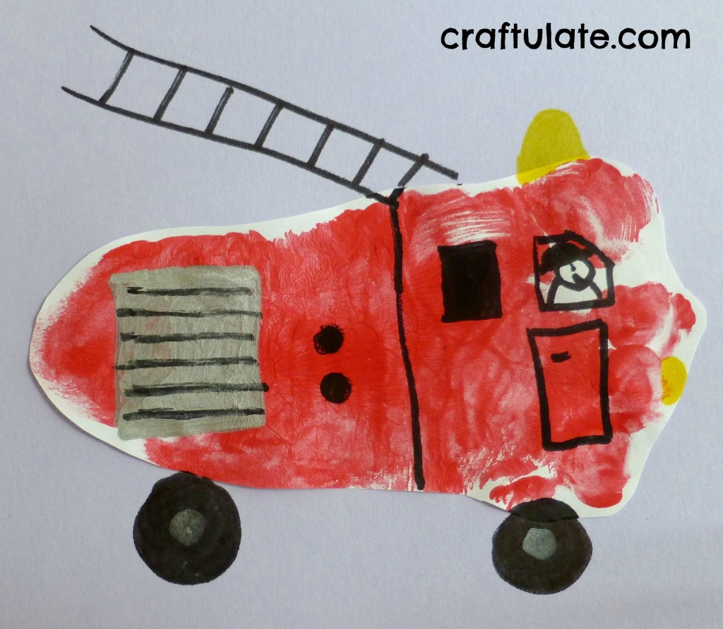 Fire Truck Art Projects Toddlers