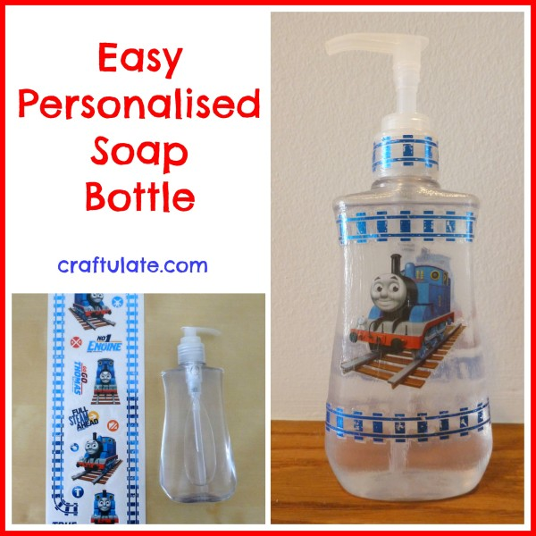Easy Personalised Soap Bottle