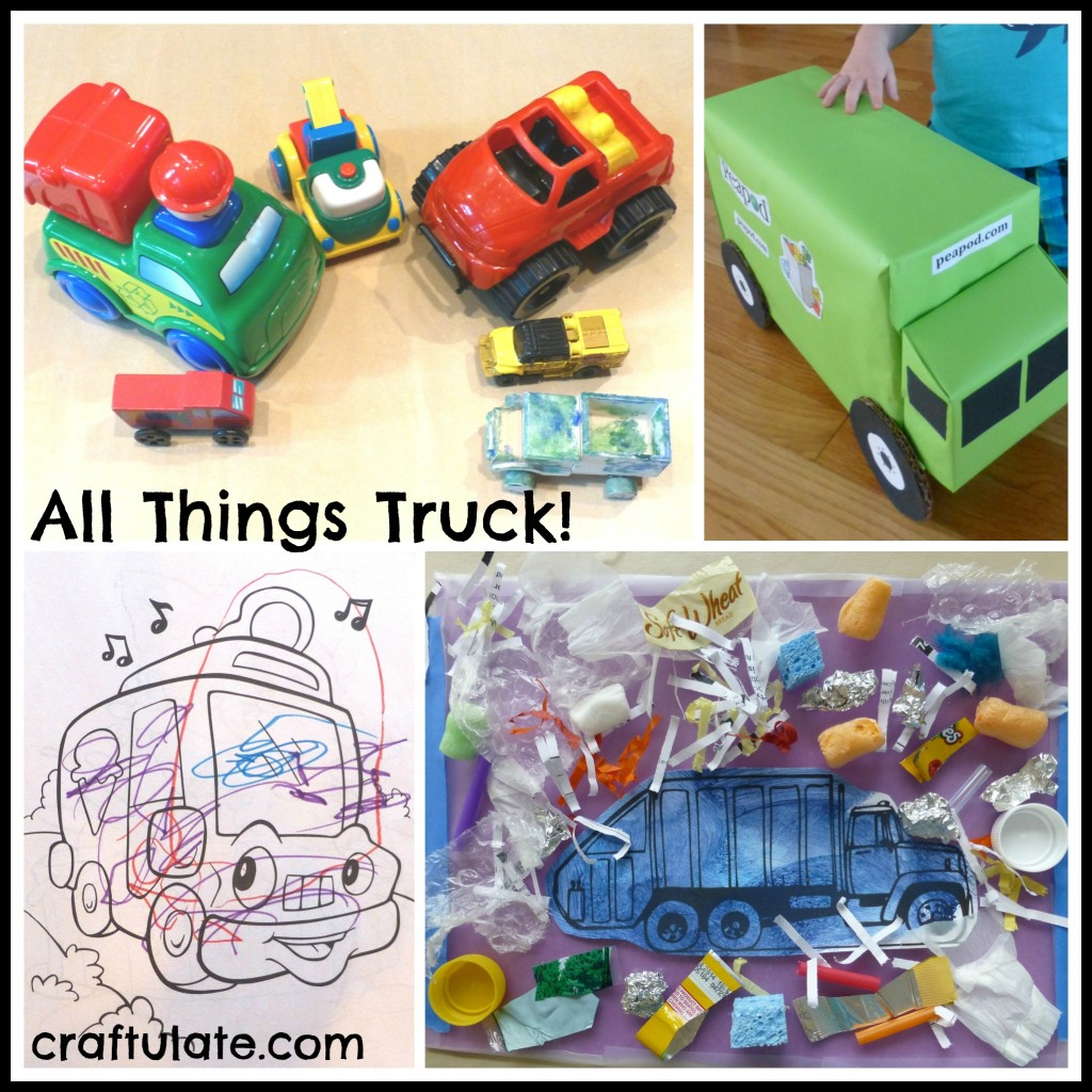All Things Truck! Crafts and activities for kids with a truck theme!