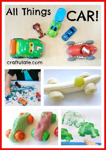 All Things Car! Crafts and activities for kids with a car theme!