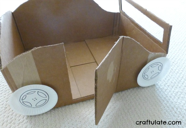 how to make a steering wheel out of paper