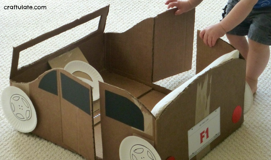 Cardboard Box Car - Craftulate