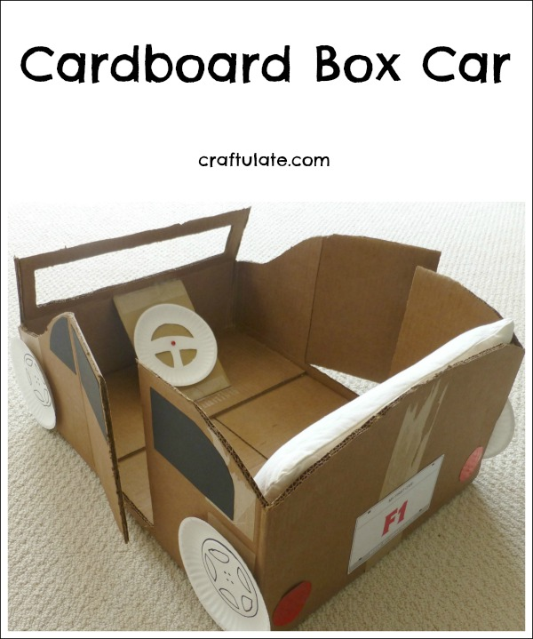 Cardboard Box Car - make this for your toddler!