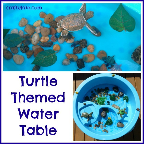 Turtle Themed Water Table - sensory play fun!