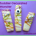 Toddler-Decorated Monster Cookies