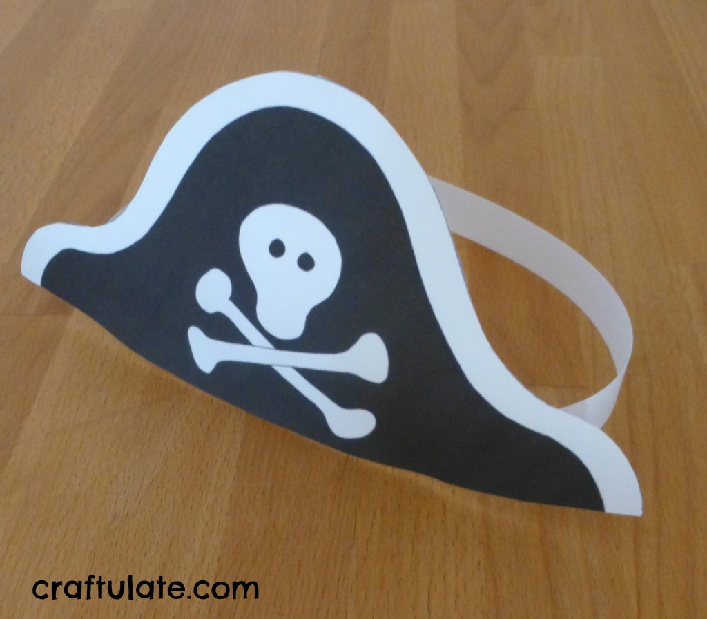 photo relating to Printable Pirate Hats referred to as Pirate Galleon Craft and other pirate functions - Craftulate