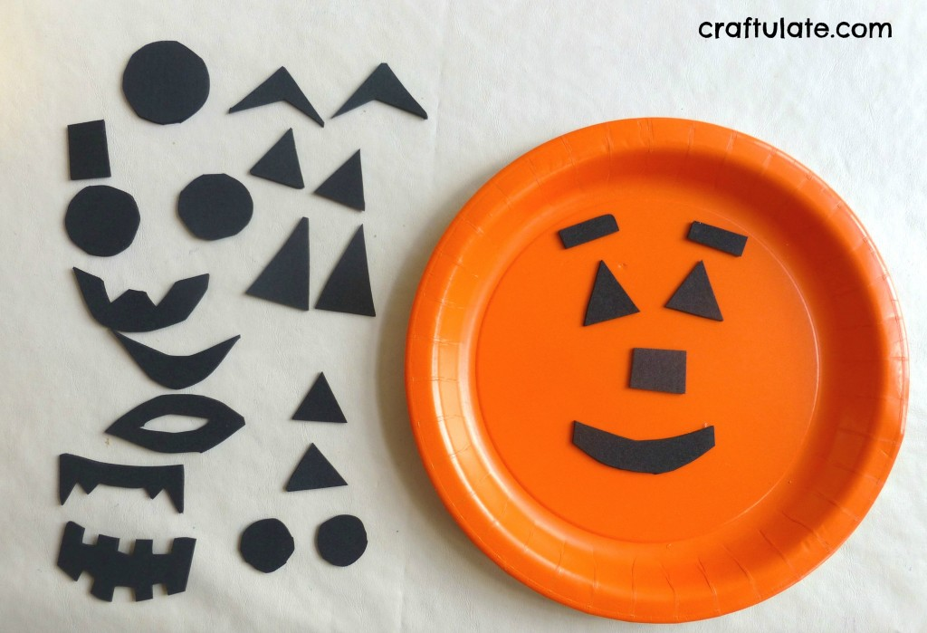 Halloween Crafts for Toddlers & Preschool Crafts for Kids*: Halloween Paper Plate Pumpkin Preschool ...