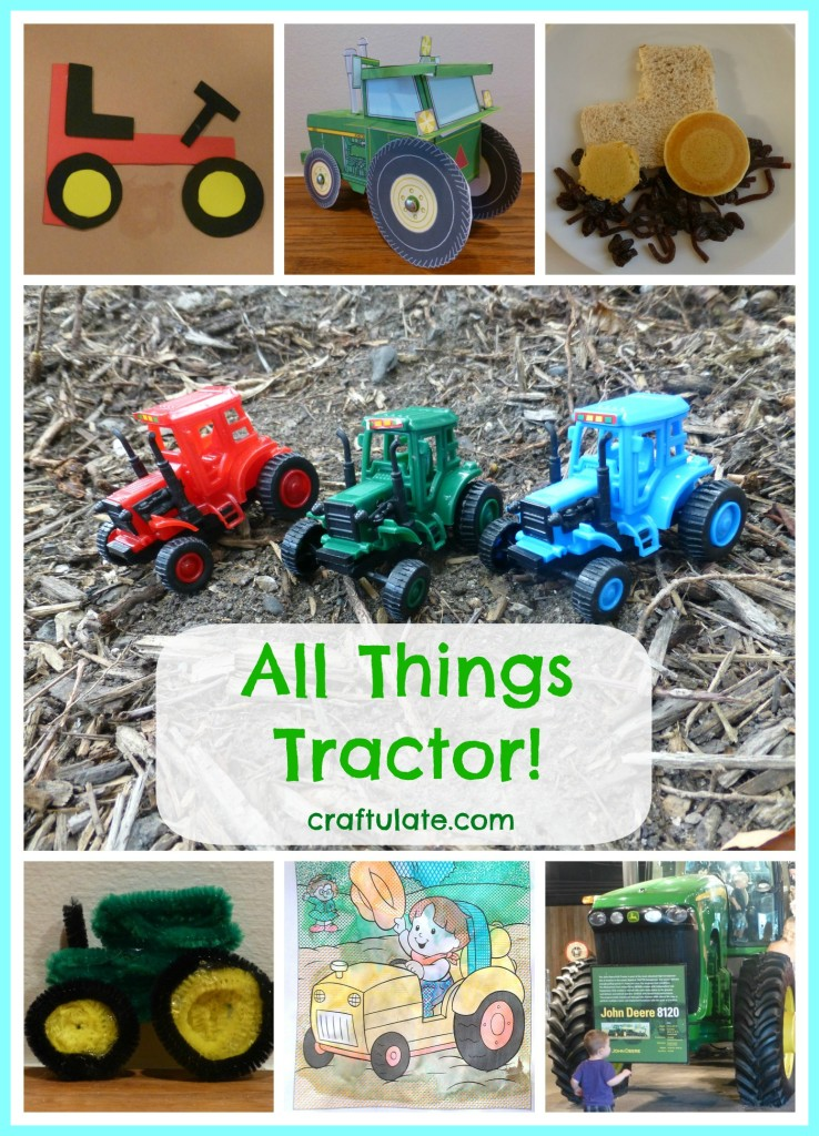 All things tractor craftulate for Tractor art projects