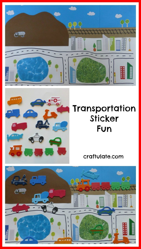 Transportation Sticker Fun