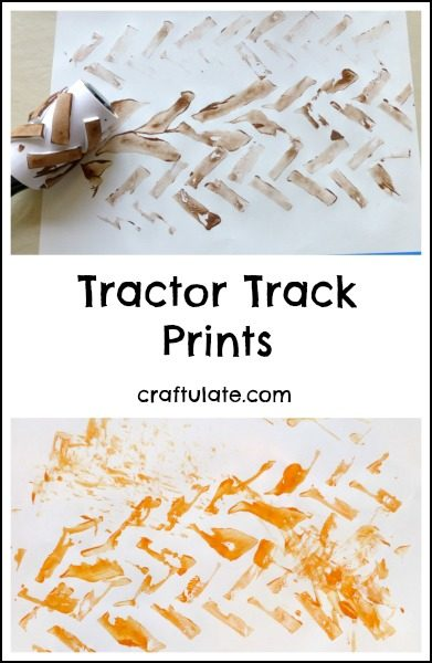 Tractor Track Prints - a fun art activity for kids!
