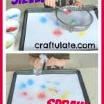 Powdered Chalk Spray Painting