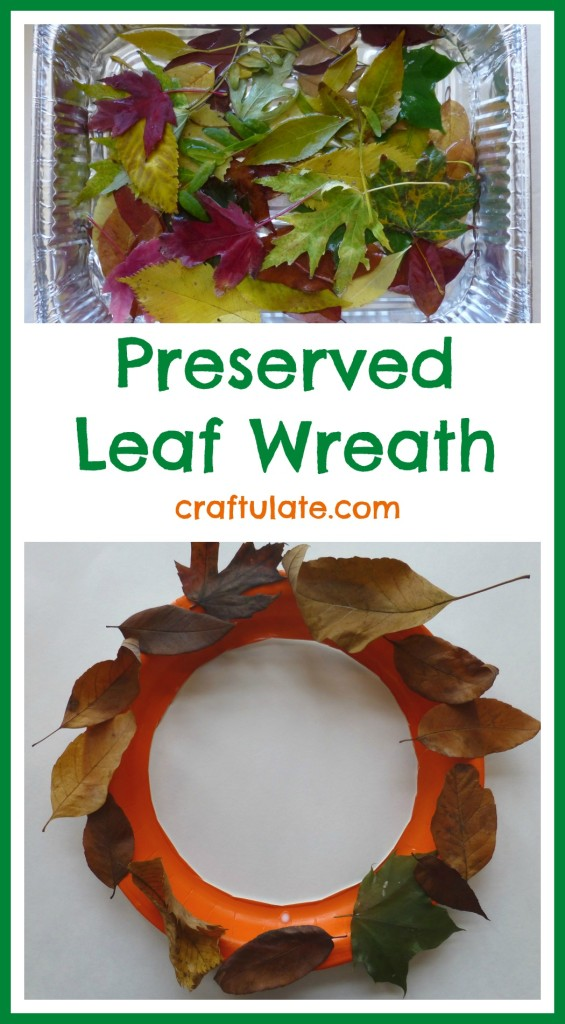 Preserved Leaf Wreath - a fun fall craft for kids to make!