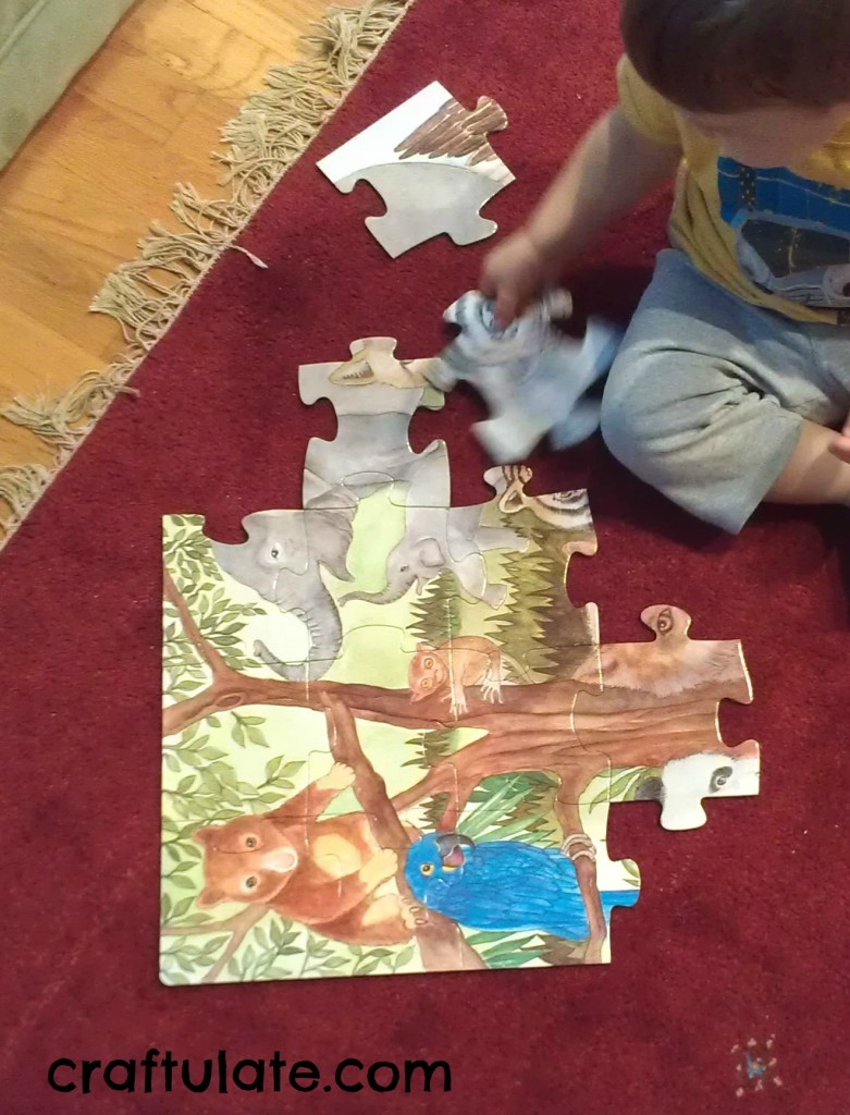 Playing with Puzzles [Fine Motor Fridays]