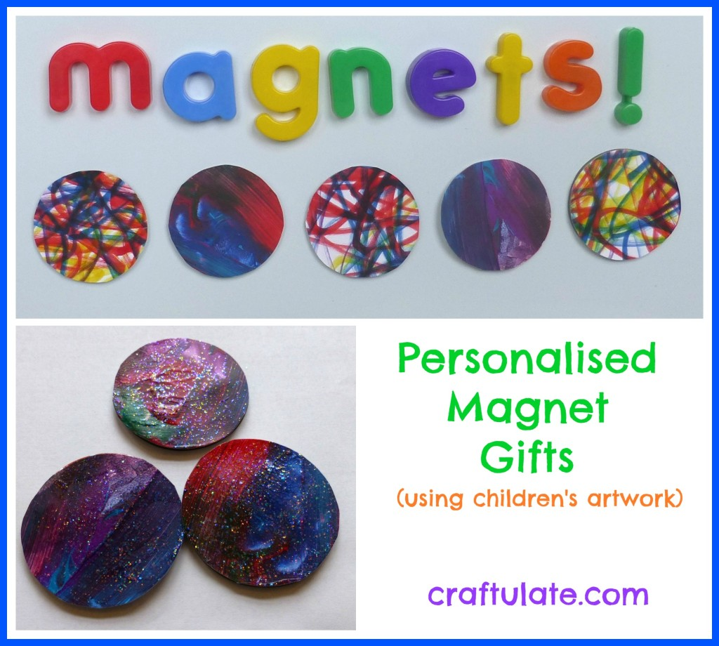 Personalised Magnet Gifts - using kids' artwork!
