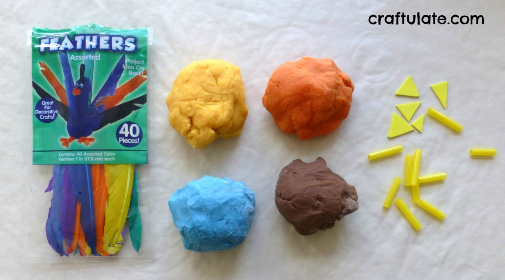 Play Dough Birds - a fun fine motor play activity
