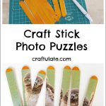 Craft Stick Photo Puzzles