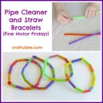 Pipe Cleaner and Straw Bracelets