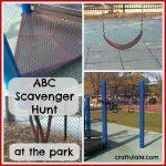 ABC Scavenger Hunt at the Park