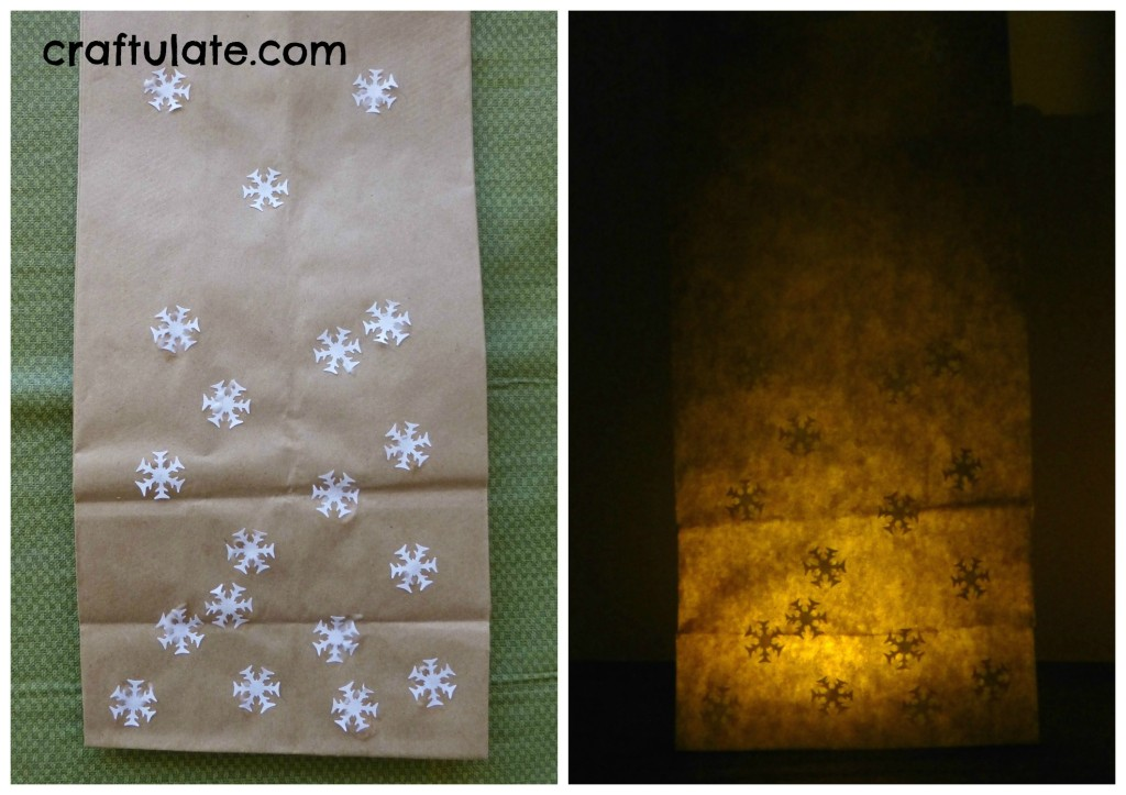 Craftulate: Paper Bag Luminary [Fine Motor Fridays]