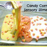 Candy Corn Sensory Slime