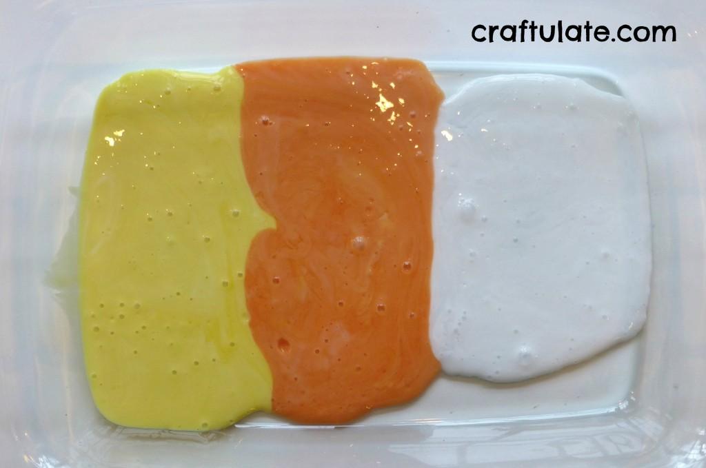 Craftulate: Candy Corn Sensory Slime