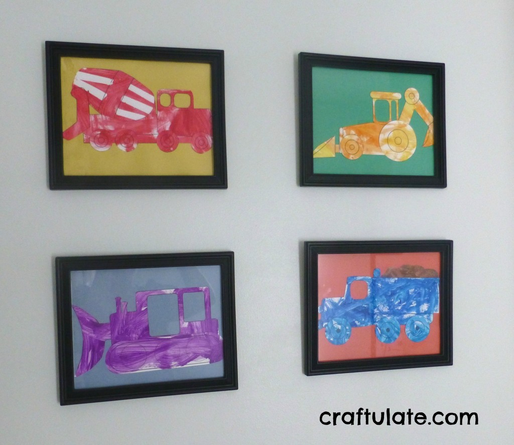 Construction Vehicle Wall Art