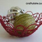 Festive Yarn Mache Bowl