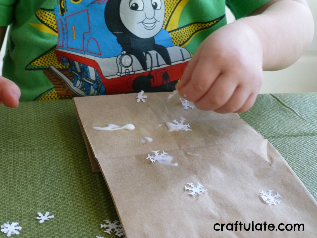 Craftulate: Paper Bag Luminary [Fine Motor Fridays]