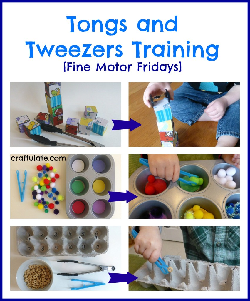Tongs and Tweezers Training - fine motor skills practice for toddlers