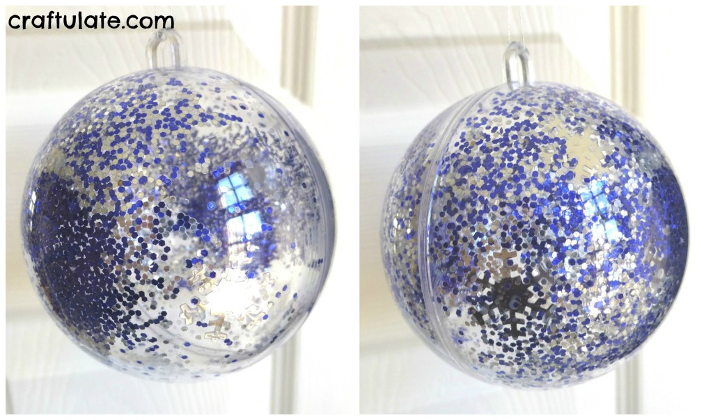 Craftulate: Fill and Shake Ornaments