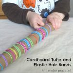 Cardboard Tube and Elastic Hair Bands