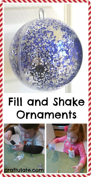 Fill and Shake Ornaments for kids to make