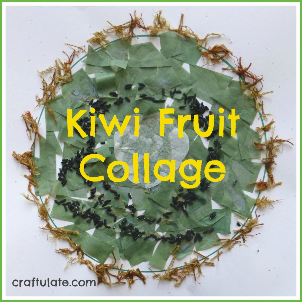 Craftulate: Kiwi Fruit Collage